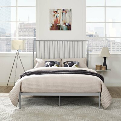 Balbuena Queen Platform Bed Color: Gray
