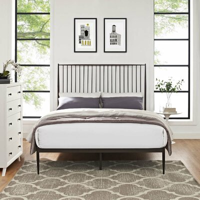 Balbuena Queen Platform Bed Color: Brown