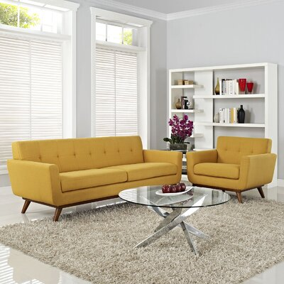 Saginaw 2 Piece Living Room Set Upholstery: Citrus