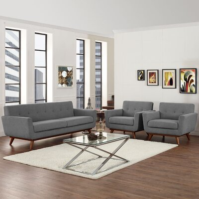 Saginaw 3 Piece Living Room Set Upholstery: Expectation Gray