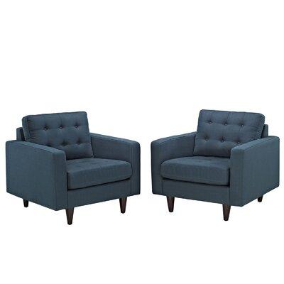 Warren Tufted Armchair Upholstery: Azure