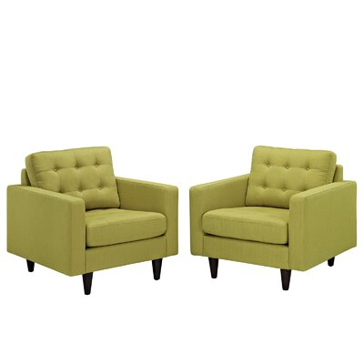 Warren Tufted Armchair Upholstery: Wheatgrass