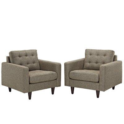 Warren Tufted Armchair Upholstery: Oatmeal