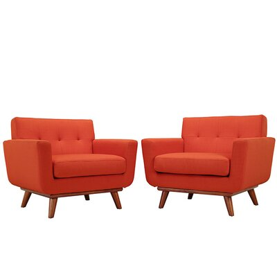 Saginaw Armchair Upholstery: Atomic Red