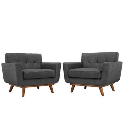 Saginaw Armchair Upholstery: Gray