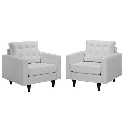 Warren Faux Leather Armchair Upholstery: White