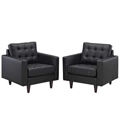 Warren Armchair Upholstery: Black
