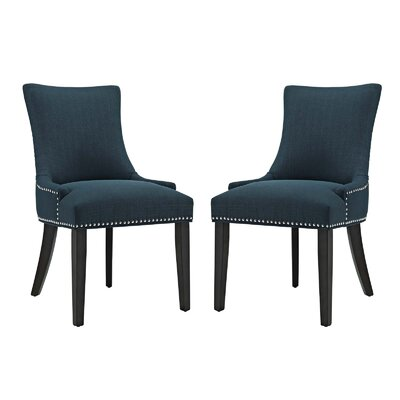 Enfield Upholstered Dining Chair Upholstery Color: Azure