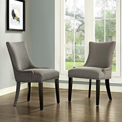 Enfield Upholstered Dining Chair Upholstery Color: Granite