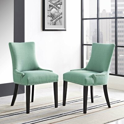 Enfield Upholstered Dining Chair Upholstery Color: Laguna