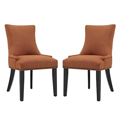Enfield Upholstered Dining Chair Upholstery Color: Orange