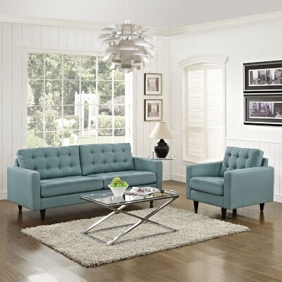 Warren 2 Piece Living Room Set Upholstery: Laguna