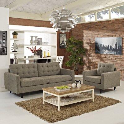 Warren 2 Piece Living Room Set Upholstery: Oatmeal