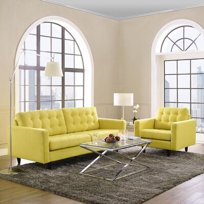 Warren 2 Piece Living Room Set Upholstery: Sunny