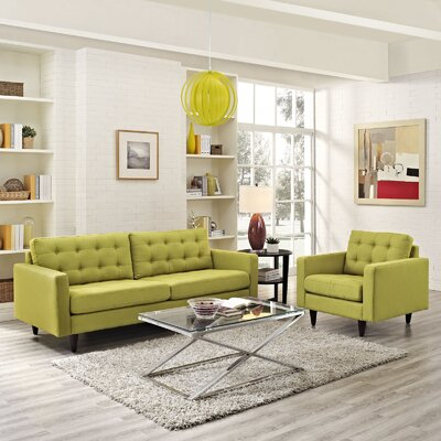 Warren Armchair and Sofa Set Upholstery: Wheatgrass