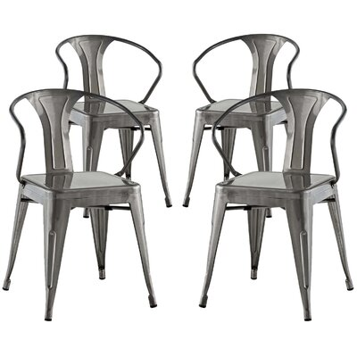 Ashlyn Dining Chair Color: Gunmetal