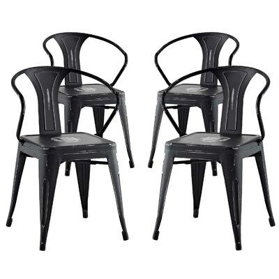 Ashlyn Dining Chair Color: Brown