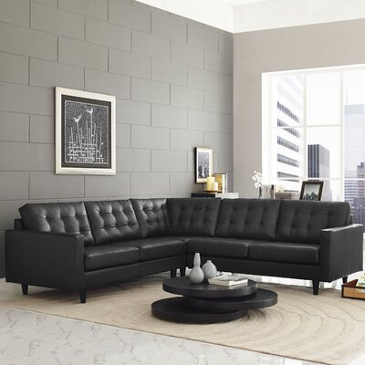 Warren Sectional Upholstery: Black