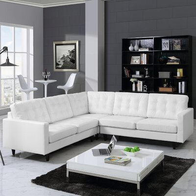 Warren Sectional Upholstery: White