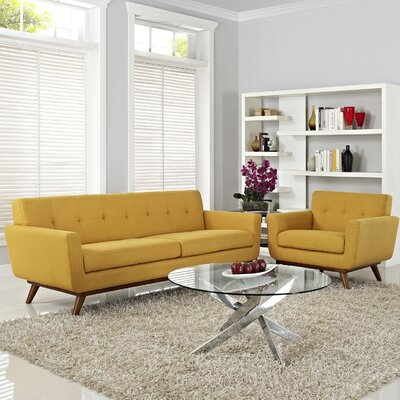 Saginaw Armchair and Sofa Set Upholstery: Laguna