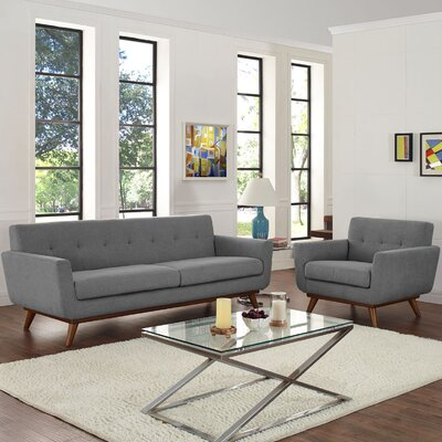 Saginaw Armchair and Sofa Set Upholstery: Expectation Gray