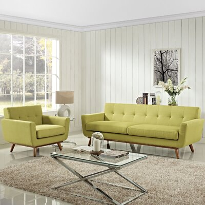 Saginaw Armchair and Sofa Set Upholstery: Wheatgrass
