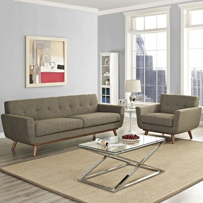 Saginaw 2 Piece Living Room Set Upholstery: Oatmeal