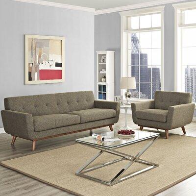 Saginaw Armchair and Sofa Set Upholstery: Oatmeal
