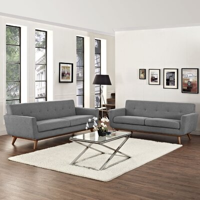 Saginaw Loveseat and Sofa Set Upholstery: Expectation Gray