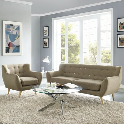 Meggie Armchair and Sofa Set Upholstery: Brown