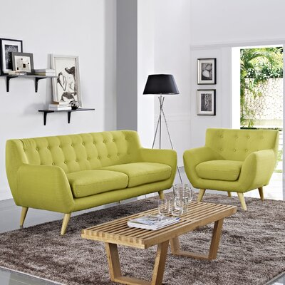 Meggie Armchair and Sofa Set Upholstery: Wheatgrass