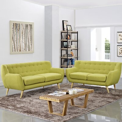 Meggie 2 Piece Living Room Set Upholstery: Wheatgrass