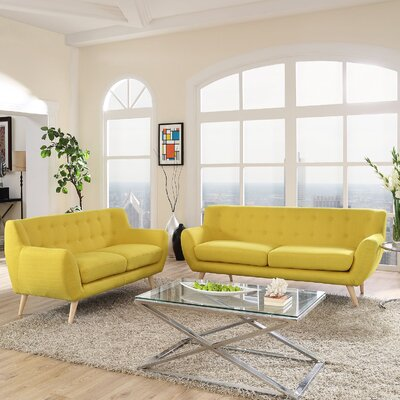 Meggie Loveseat and Sofa Set Upholstery: Sunny