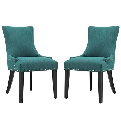 Enfield Upholstered Dining Chair Upholstery Color: Teal