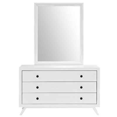 Marnie 3 Drawer Dresser Color: White