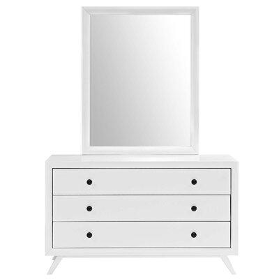 Marnie 3 Drawer Dresser Color: White