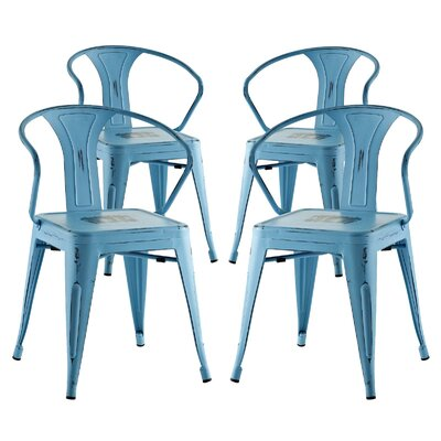 Ashlyn Dining Chair Color: Turquoise