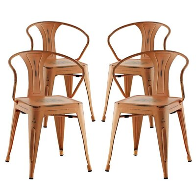 Ashlyn Dining Chair Color: Orange