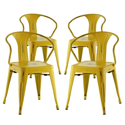 Ashlyn Dining Chair Color: Yellow