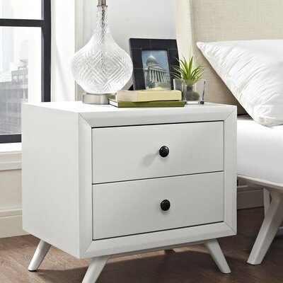 Marnie 2 Drawer Nightstand Finish: White