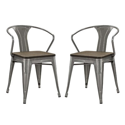 Ashlyn Metal Dining Chair Color: Gunmetal