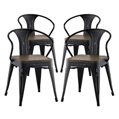 Ashlyn Dining Chair Color: Black