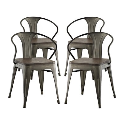 Ashlyn Dining Chair Color: Brown