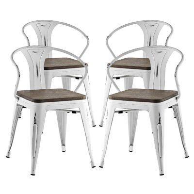 Ashlyn Dining Chair Color: White