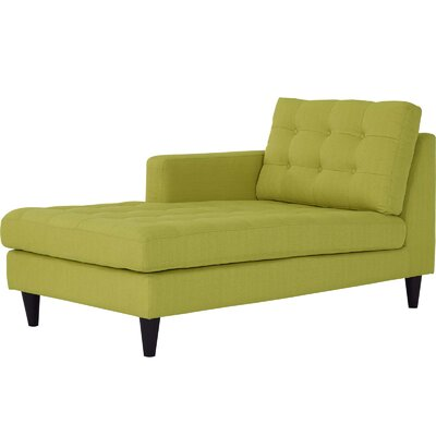 Warren Left-Arm Upholstered Fabric Chaise Lounge Upholstery: Wheatgrass