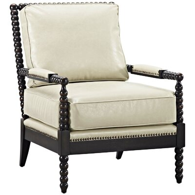 Areyanna Arm Chair Upholstery: Cream