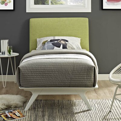 Hannigan Upholstered Platform Bed Color: Green, Size: Full