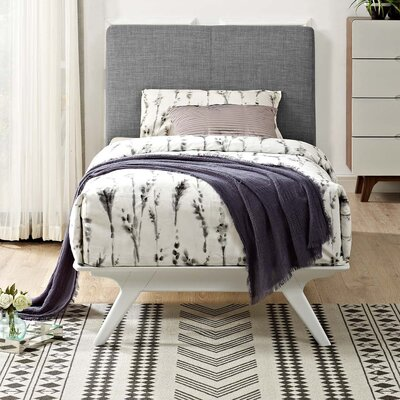 Hannigan Upholstered Platform Bed Color: Gray, Size: Twin