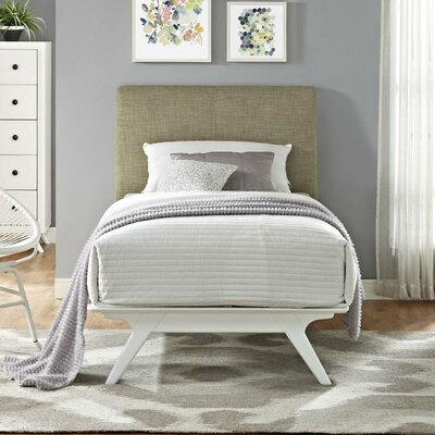 Modesto Upholstered Platform Bed Color: Latte, Size: Full