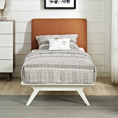 Modesto Upholstered Platform Bed Color: Orange, Size: Twin